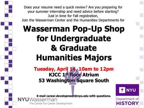 Wasserman Pop-Up - April 14